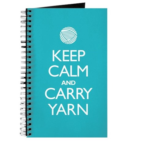 Turquoise Keep Calm and Carry Yarn Journal