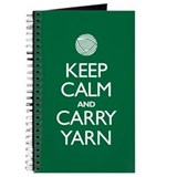Green Keep Calm and Carry Yarn Journal