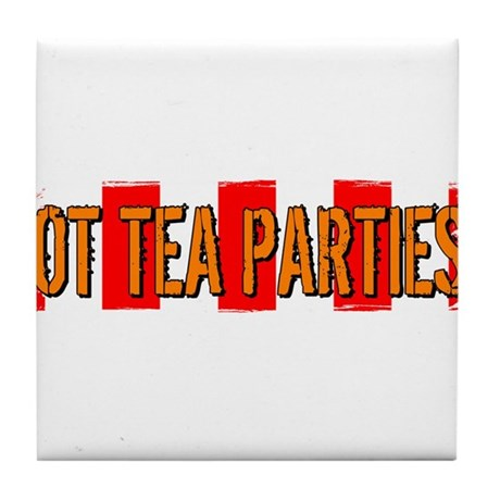Got Tea Parties? Distressed Tile Coaster