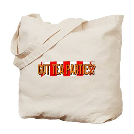 Got Tea Parties? Distressed Tote Bag