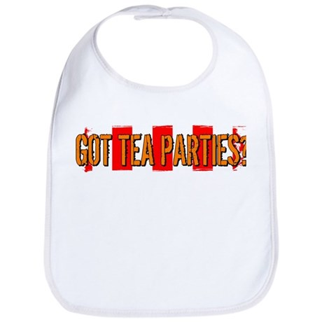 Got Tea Parties? Distressed Bib