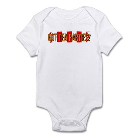Got Tea Parties? Distressed Infant Bodysuit