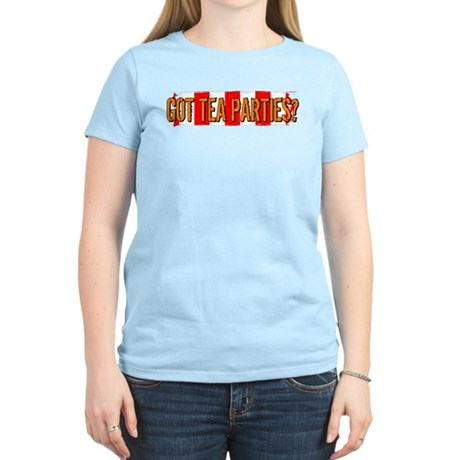 Got Tea Parties? Distressed Women's Light T-Shirt