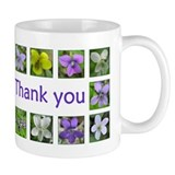 Violets Thank You Mug