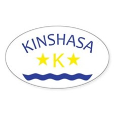 Kinshasa Oval Decal