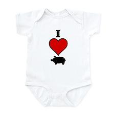 I heart Pig Infant Bodysuit