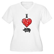 Vintage I Heart Pig T-Shirt