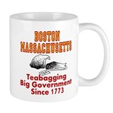 Boston Mass Teabagging Big Government Small Mugs