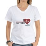 I Heart Ortho - Grey's Anatomy Women's V-Neck T-Shirt