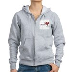I Heart Ortho - Grey's Anatomy Women's Zip Hoodie