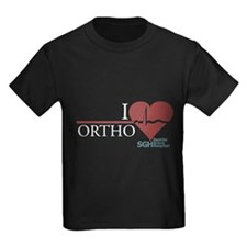 I Heart Ortho - Grey's Anatomy Kids Dark T-Shirt