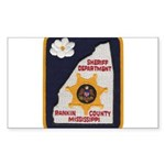 Rankin County Sheriff Rectangle Sticker 50 pk)
