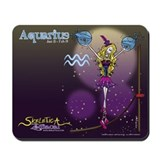 Aquarius - Skeletica Zodiacal Mousepad