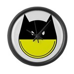 Bat Smiley Large Wall Clock