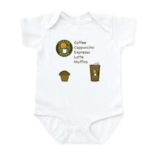 Coffee Bucks Menu Infant Bodysuit