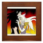 Luke and Zeldah - flames Framed Tile