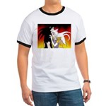 Luke and Zeldah - flames Ringer T