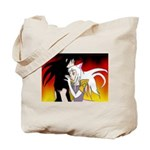 Luke and Zeldah - flames Tote Bag