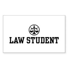 Law Student Rectangle Decal