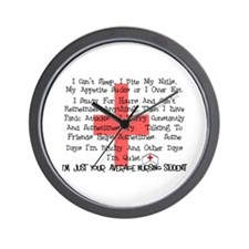 Nursing Student XX Wall Clock