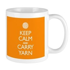 Orange Keep Calm and Carry Yarn Mug