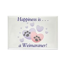 Happiness is...a Weimaraner Rectangle Magnet (10 p