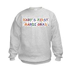 Baby's first Mardi Gras Kids Sweatshirt