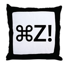Command Z! Throw Pillow