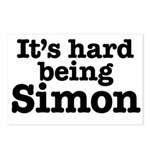 It's hard being Simon Postcards (Package of 8)