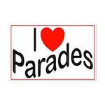 I Love Parades Mini Poster Print