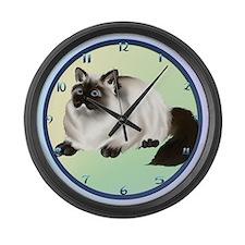 Himalayan Kitty Large Wall Clock
