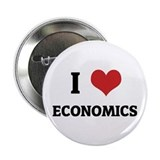 I Love Economics Button