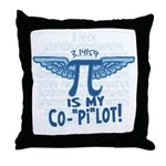 Pi is my Copilot Throw Pillow