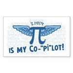 Pi is my Copilot Rectangle Sticker