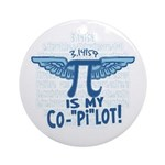 Pi is my Copilot Ornament (Round)