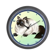 Himalayan Kitty Wall Clock
