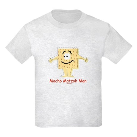 Macho Matzoh Man Passover Kids Light T-Shirt