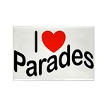 I Love Parades Rectangle Magnet (100 pack)