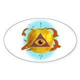 Illuminati Golden Apple Oval Decal