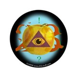 "Illuminati Golden Apple 3.5"" Button (100 pack)"