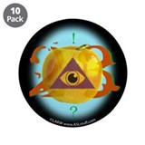 "Illuminati Golden Apple 3.5"" Button (10 pack)"