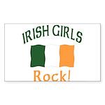 Irish Grils Rock Rectangle Sticker 10 pk)