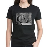 Zebra In Black and White Tee