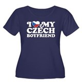 I Love My Czech Boyfriend Women's Plus Size Scoop