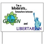 I'm a Moderate Yard Sign