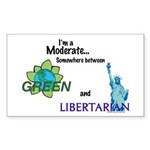 I'm a Moderate Rectangle Sticker 10 pk)