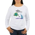 I'm a Moderate Women's Long Sleeve T-Shirt