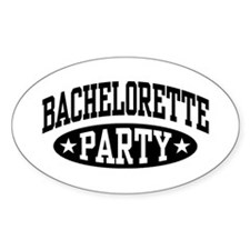 Bachelorette Party Oval Decal