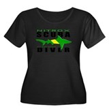 Scuba Diver: Nitrox Shark Women's Plus Size Scoop