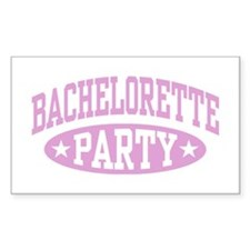 Bachelorette Party Rectangle Decal